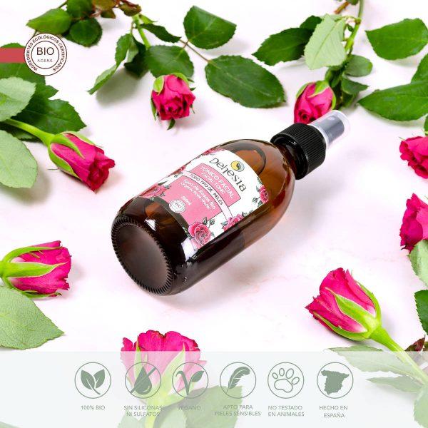 agua rosas natural ecologica tonico facial dehesia