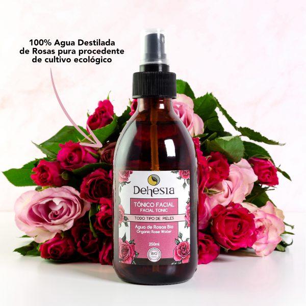 agua rosas pura ecologica tonico facial dehesia