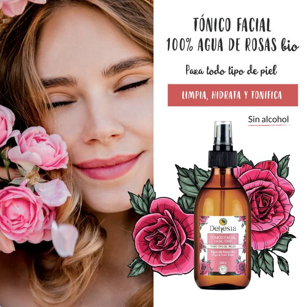 beneficios agua rosas tonico facial