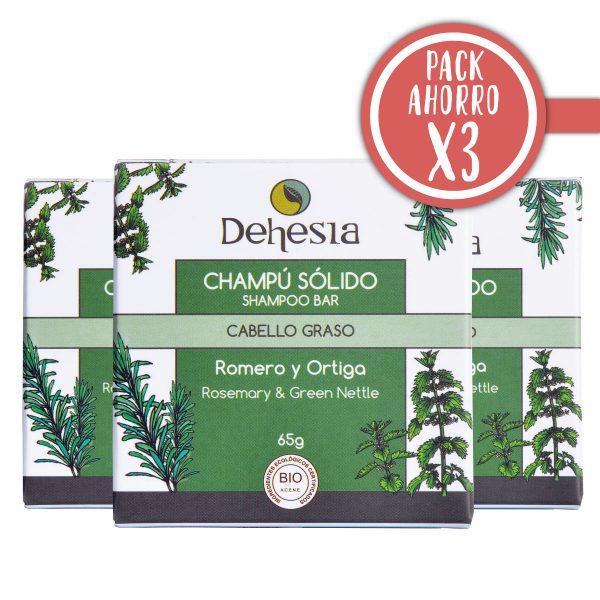 Pack Ahorro X3 Dehesia Champu Solido Cabello Graso