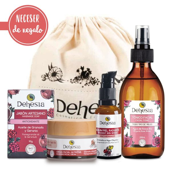 ritual cuidado facial piel seca dehesia cosmetica natural