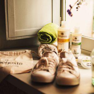 zapatillas gel champu dehesia
